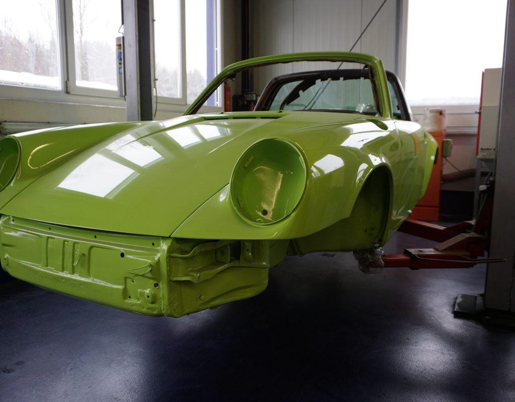 Porsche 911 Targa Lackaufbau Lackierung